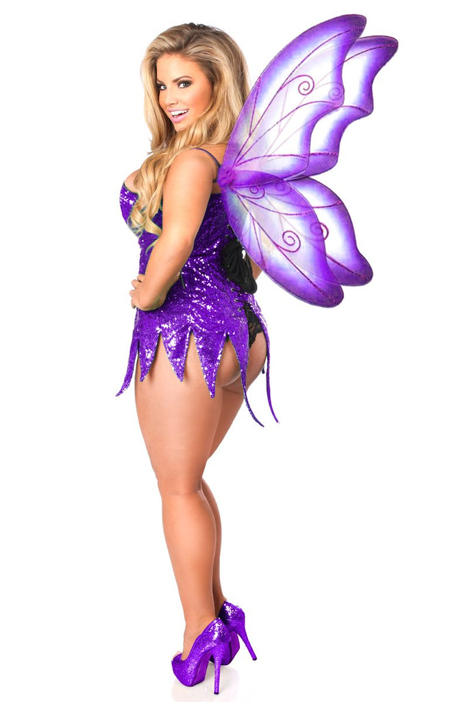 Top Drawer Purple Sequin Fairy Corset Dress Costume - My Luxury Intimates