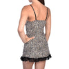 Cheetah Skin Print Slip With Contrast Lace Hem - My Luxury Intimates