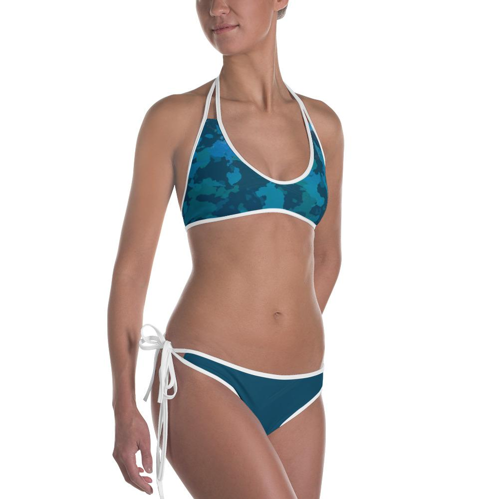 FYC Swim Reversible O.U.R. Outdoors Camo Bikini (White or Black Piping) - My Luxury Intimates