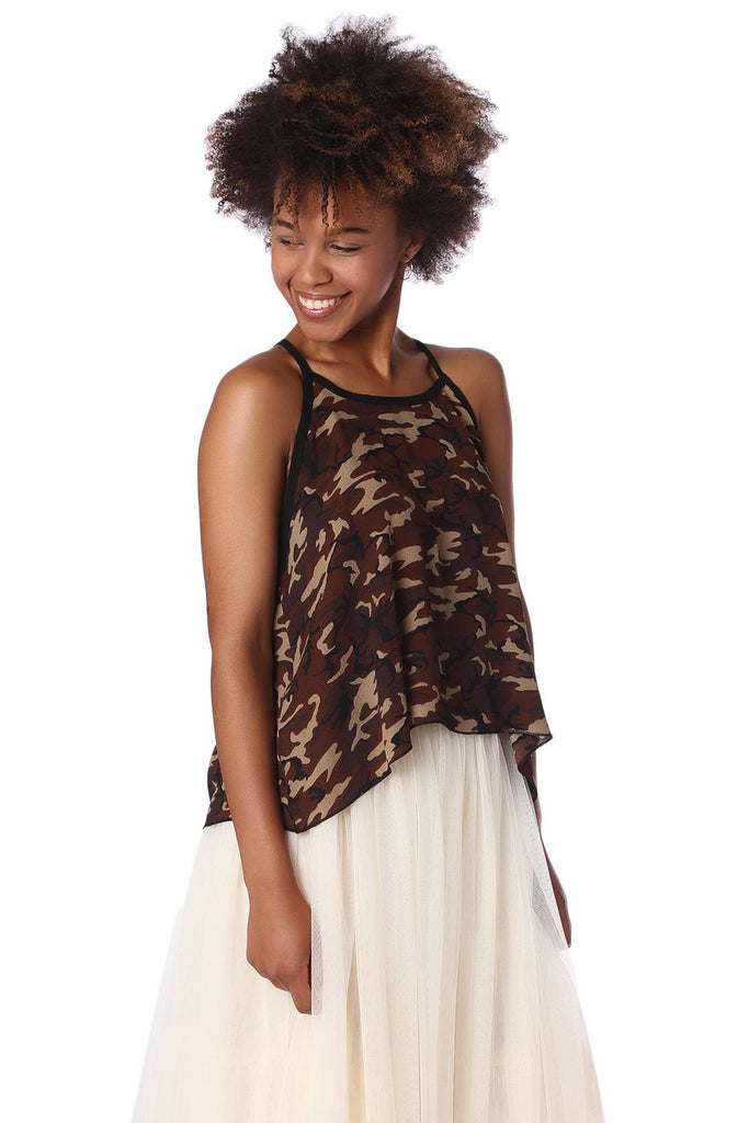 animal print summer top from women