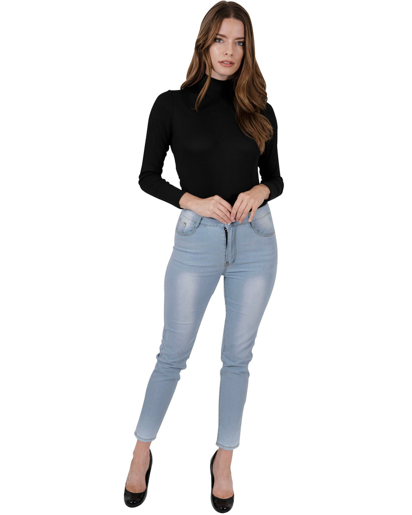 light blue wash benedict skinny jeans for women - my luxury intimates