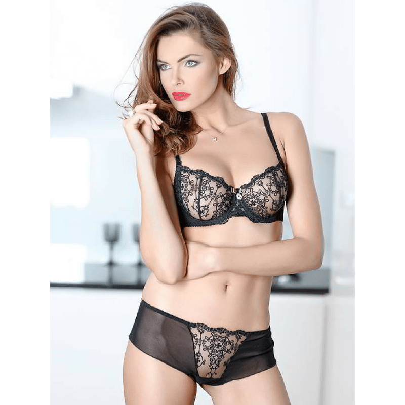 Demi Cup Sheer Lace Bra Caprice Gina - My Luxury Intimates