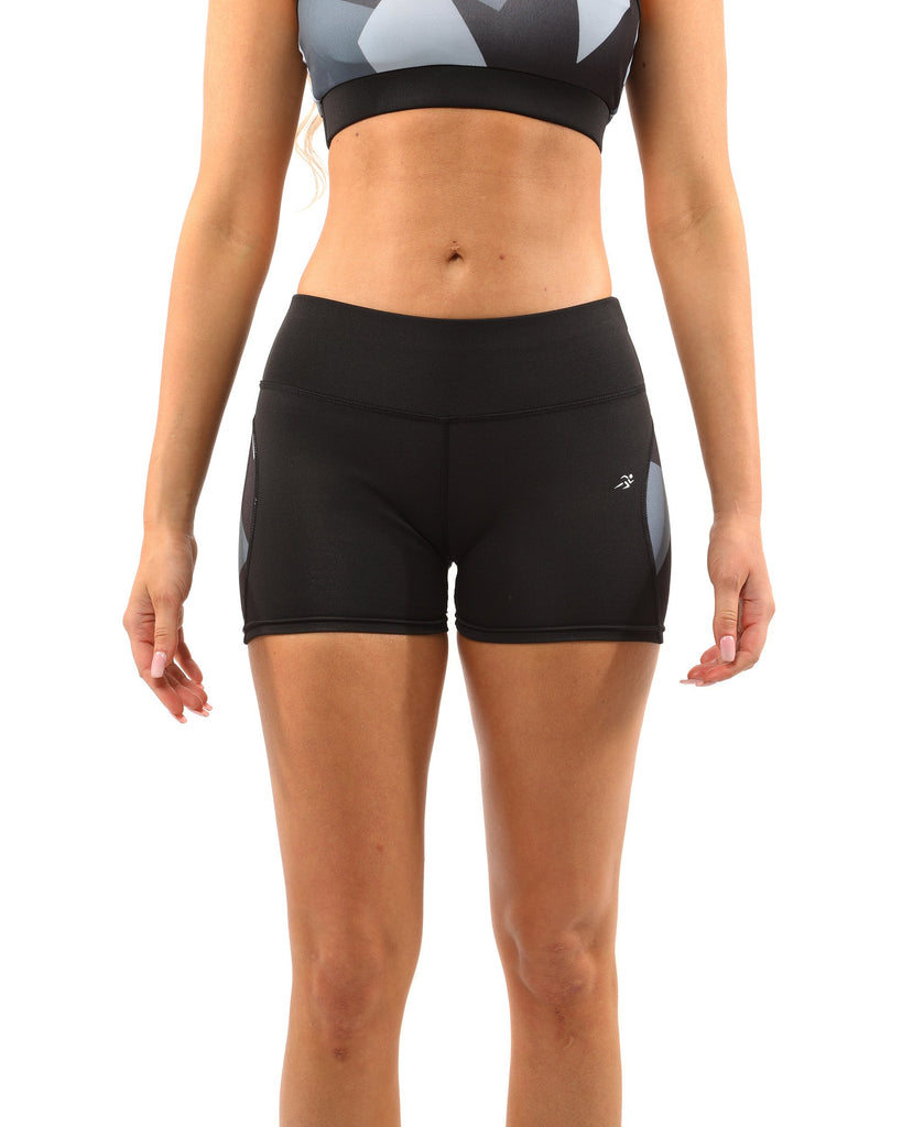 Activewear Bondi Black /Gray Sculpting Shorts - My Luxury Intimates
