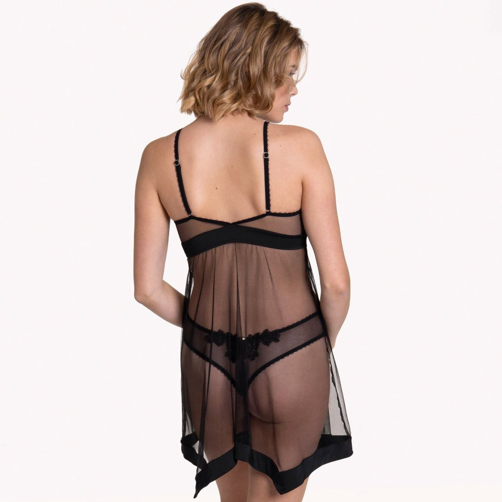 Sheer Mesh Wireless Babydoll Lisca Peony - My Luxury Intimates