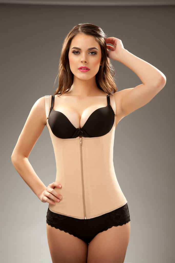 Vedette Felice Waist Cincher Vest with Front Zipper - My Luxury Intimates