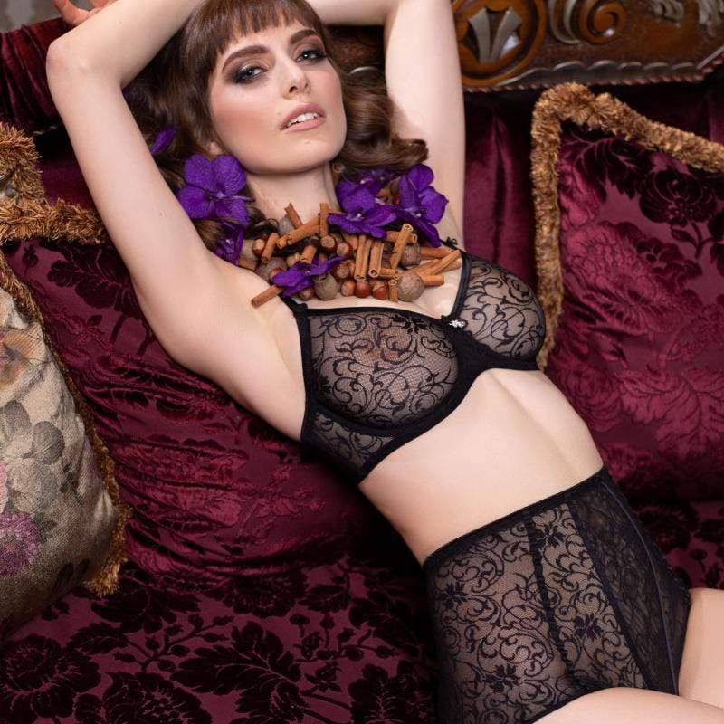 Sheer Lace Vintage High Waist Panty Lavinia Laura - My Luxury Intimates