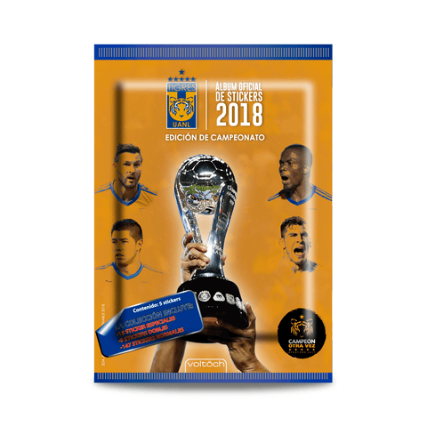 Image of Sobre de Stickers - Álbum Oficial Tigres 2018