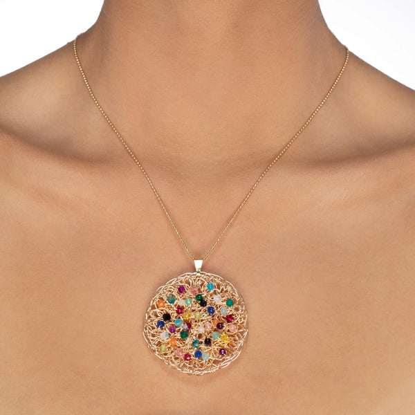 CONJUNTO COLLAR FLORENCIA + ANILLO MULTICOLOR