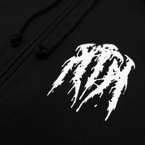 Black Metal Zip-Up Hoodie