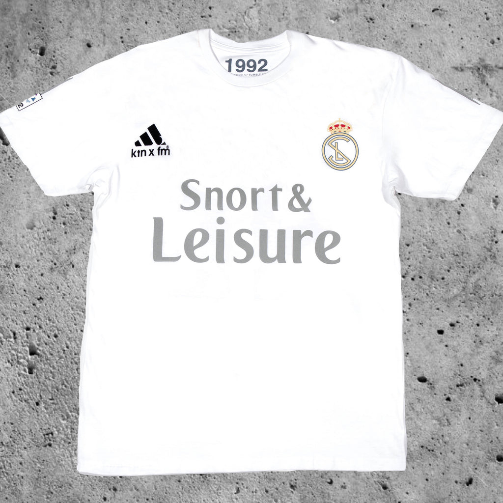 Snort & Leisure Tee (1992 Collaboration) (White)