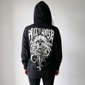 Black Metal Zip Hoodie - Light