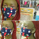 Christmas Birds & Holly Print Face Mask | 100% Cotton | With Metal Nose Bridge