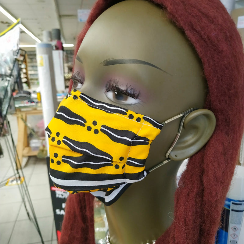 Tiger Jungle Print Face Mask | 100% Cotton | With Metal Nose Bridge | 1 Layer And 2 Layers