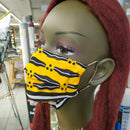 Dragonfly Print Face Mask | 100% Cotton | With Metal Nose Bridge | 1 Layer And 2 Layers