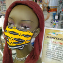 Bee Print Face Mask | 100% Cotton | With Metal Nose Bridge | 1 Layer And 2 Layers