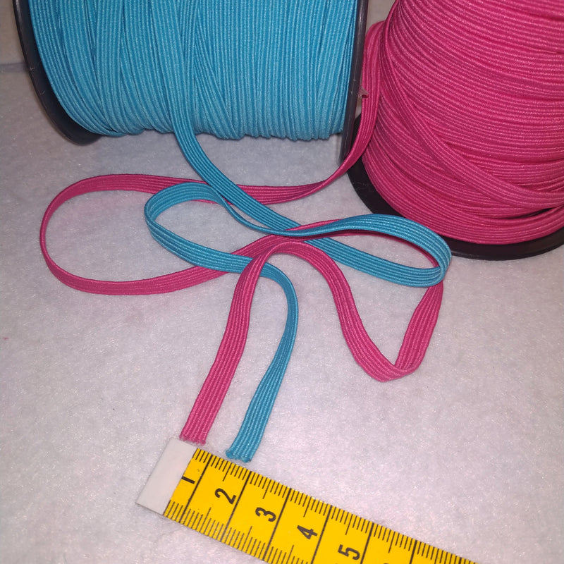 5mm Flat Coloured Elastic | Perfect For Face Mask