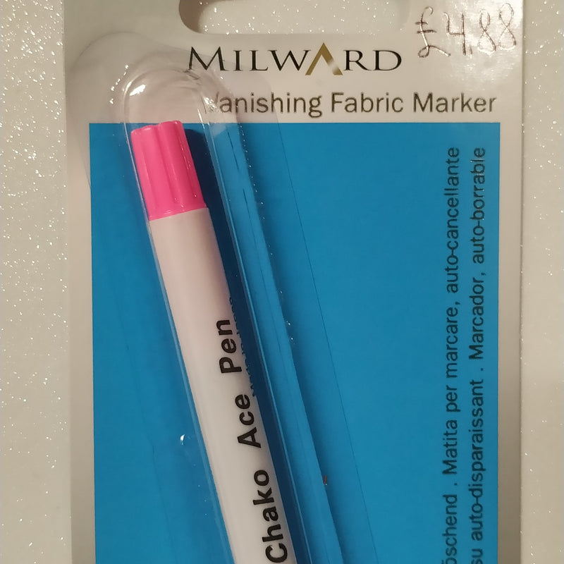 Vanishing Fabric Marker | Fabric Marking | Pink