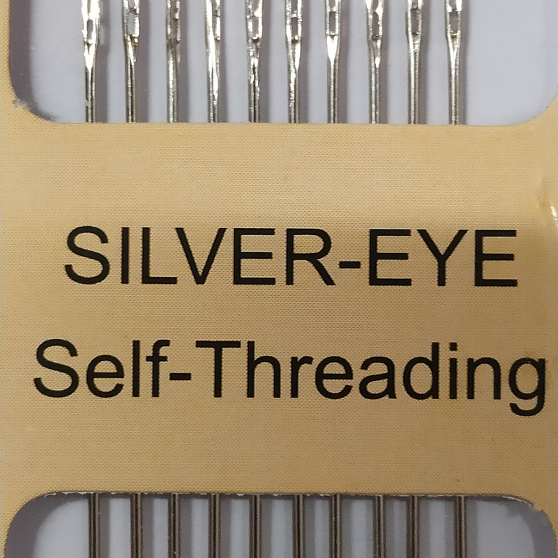 Self-Threading Hand Needles | Silver Eye | 10 Pack