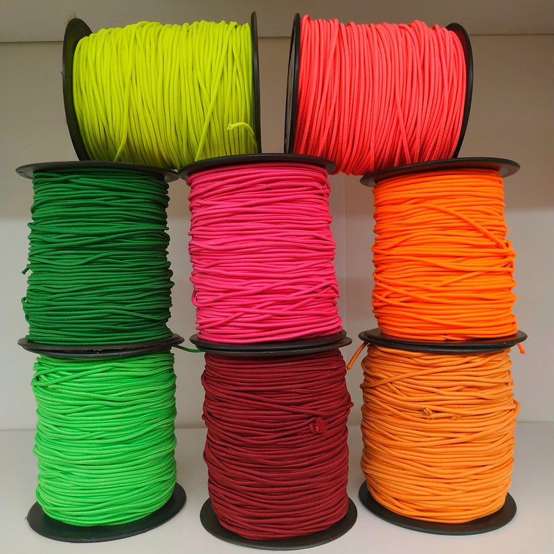 2mm Round Coloured Elastic | Perfect For Face Mask