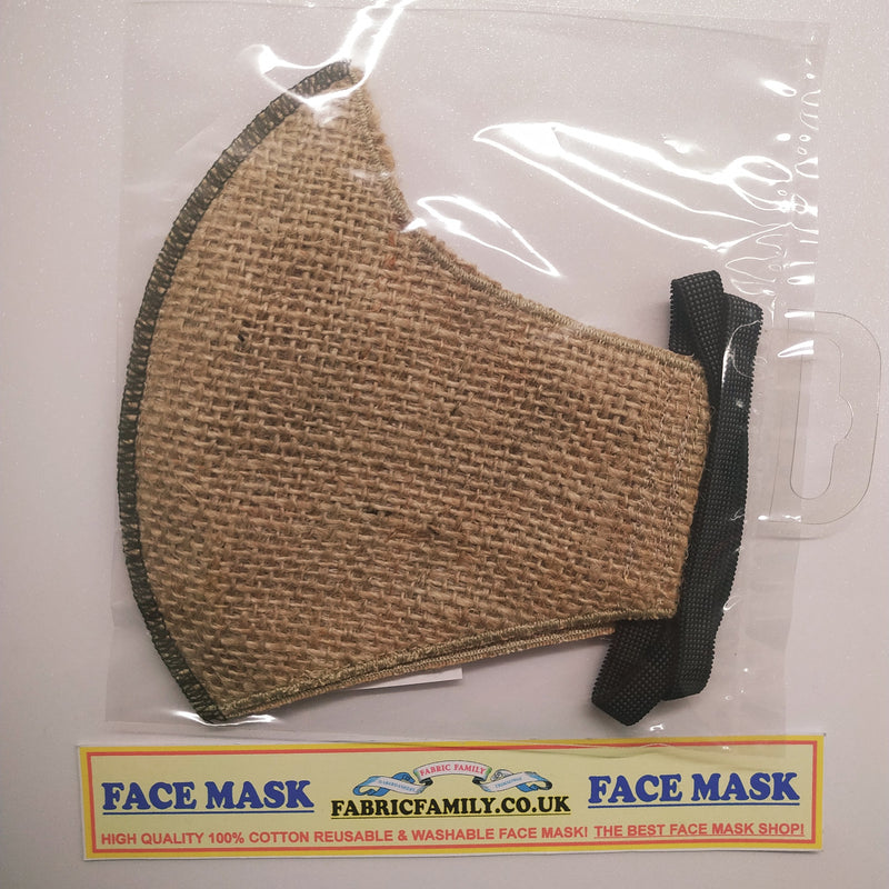 Hessian Print Face Mask | 3 Layers With Filter | 100% Cotton | Perfect Nose To Mouth Fit | Reusable