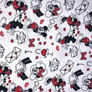 Mickey & Minnie Love Letters Disney Cotton Fabric | Width - 150cm/59inch