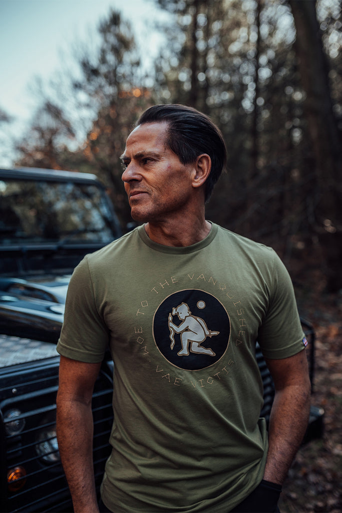 Apostle is veteran owned clothing brand in the UK. Vae Victis tee is one of our popular military t shirts. Inspired by our service in the British Army, this t-shirt is one of a kind.