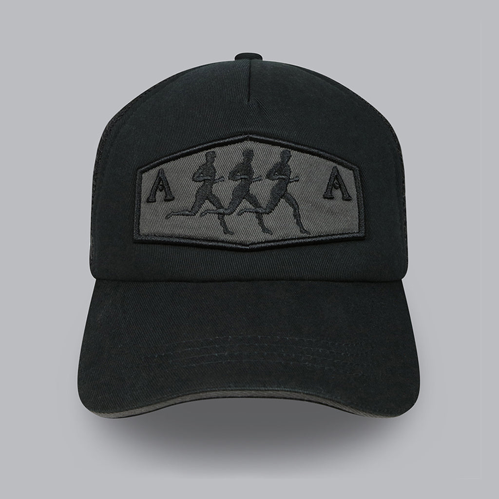 Running Man Trucker Cap (Black)