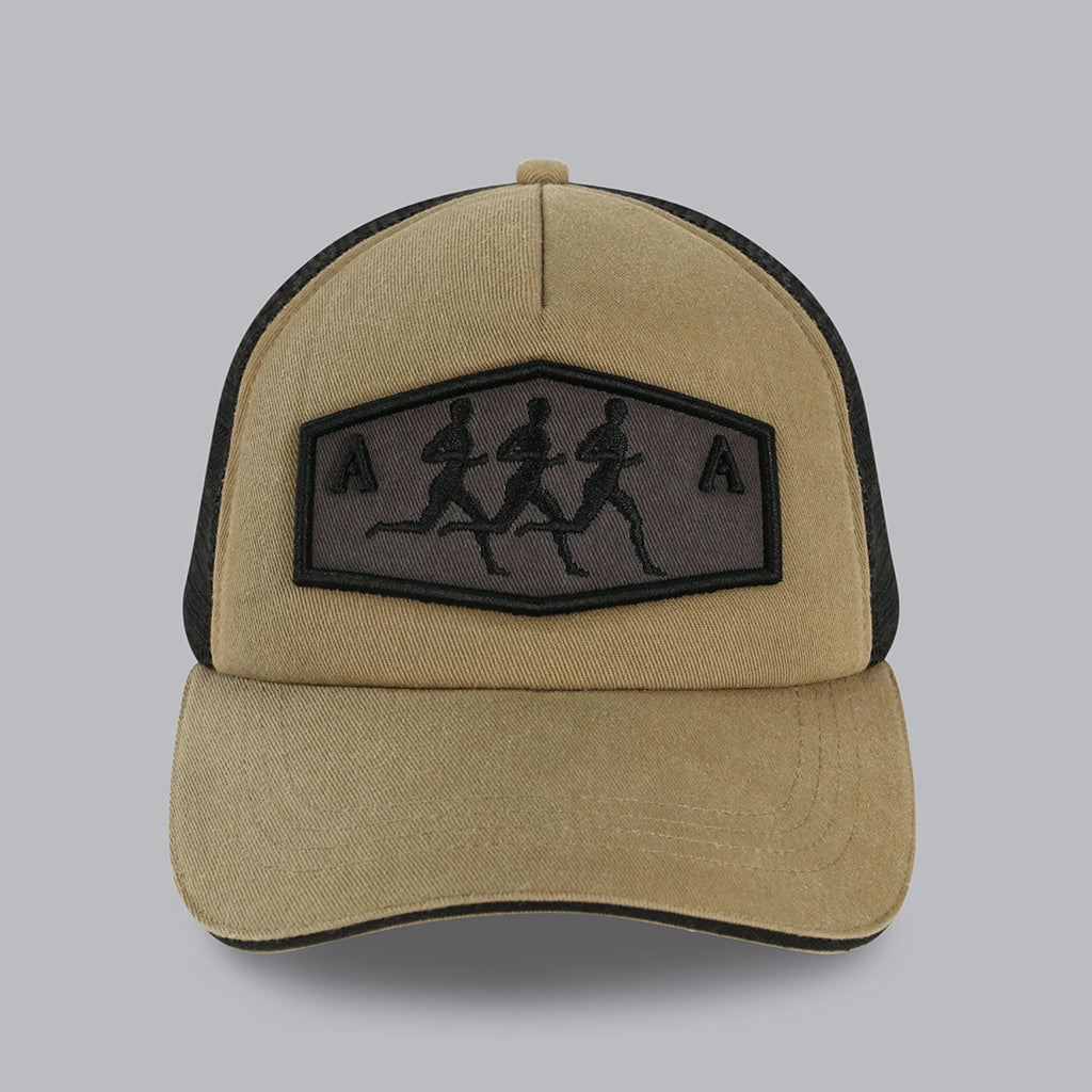 Running Man Trucker Cap (Khaki)