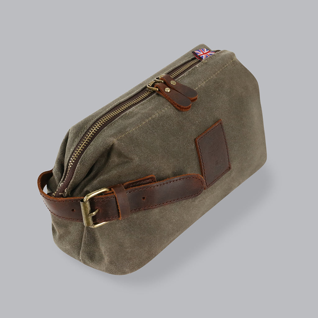 Apostle Waxed Canvas Wash Bag