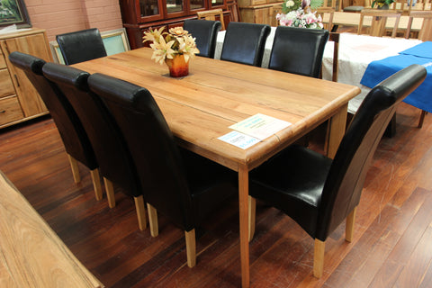 Santros Chestnut 2100 9 Piece Dining Suite