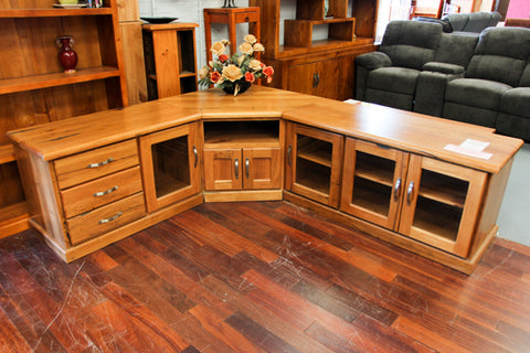 Chestnut 3 Piece Corner TV Unit