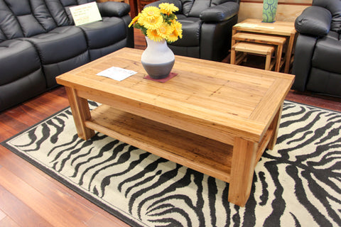 Chestnut Coffee Table with Shelf