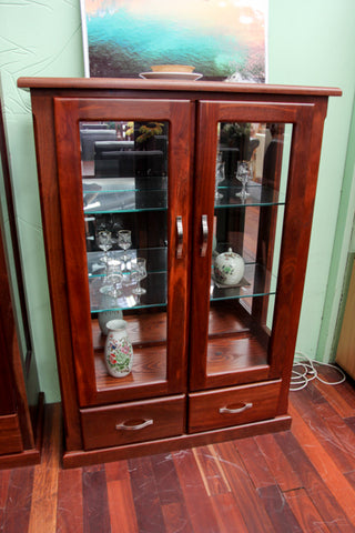 Jarrah 2DR/2DRW Display Cabinet (Small)