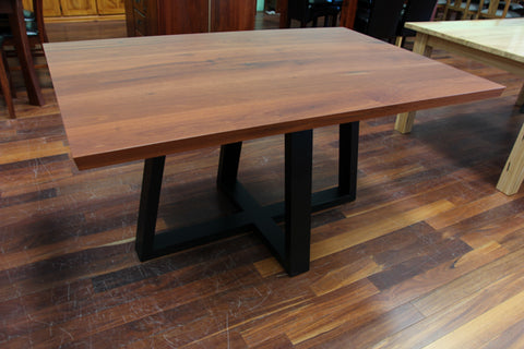 WA Jarrah 1.5M Dining Table Black leg (WA Made)