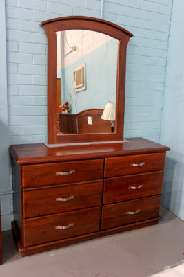 Santros Jarrah Low Chest & Mirror