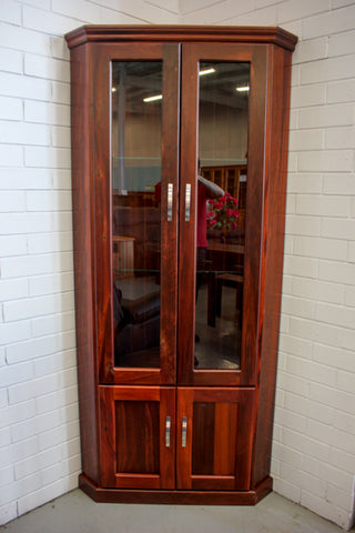 Jarrah Corner Display Cabinet