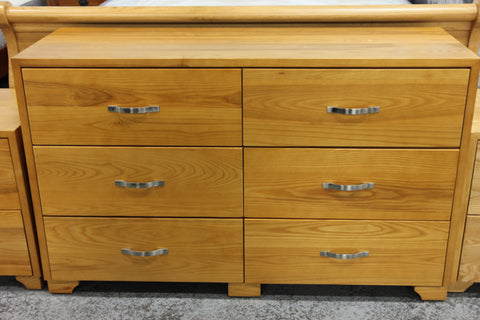 Oak 6 Drw Low Chest