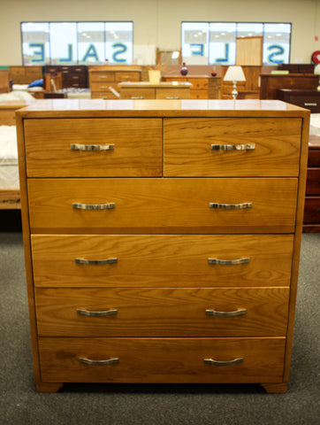 Oak 6 Drw Tall Chest