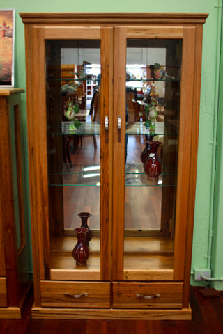 Chestnut 2DR/2DRW Display Cabinet (Large)