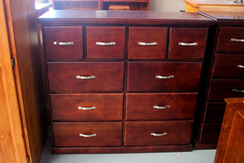 Rosewood 10 Drw Tall Chest