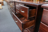 Rosewood 9 Drw Tall Chest
