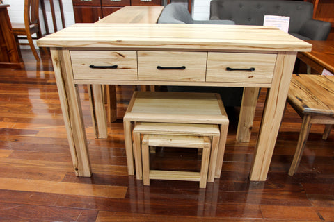 Vic Ash Chunky 3 Pce Nest Tables