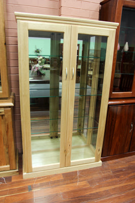 Ash 2 Door Display Cabinet