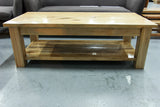 Vic Ash Coffee Table with Shelf