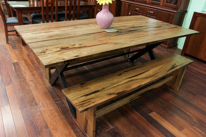 Edgewater Marri 1800 Dining Table + 2x Bench Seats