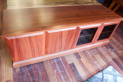 WA Jarrah Nannup 4 Door TV Unit (WA Made)