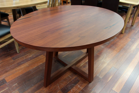 WA Jarrah Oval 1.35M Dining Table (WA Made)