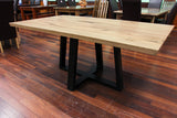 WA Marri 1.8M Dining Table Black leg (WA Made)