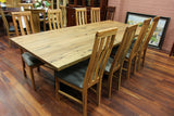 WA Marri 2.5M Dining Table Black leg (WA Made)