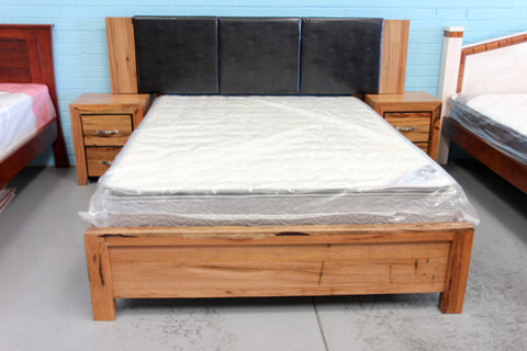 WA Marri Queen Bed (PU) with 2x Bedside